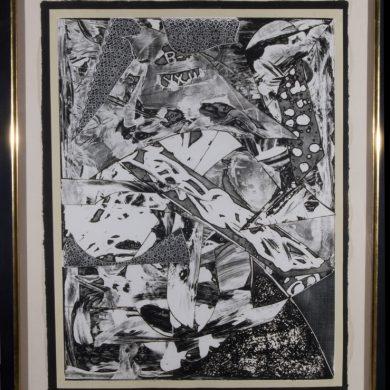 Frank stella, Swan Engraving Framed I